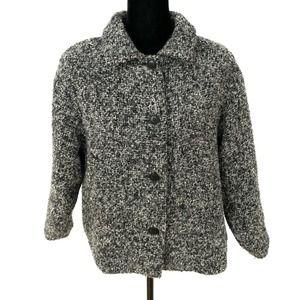 Vintage Wool Jacket Weave of the Irish Gray Black